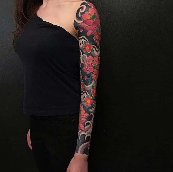 Todays work - Lotus Sleeve by Ben