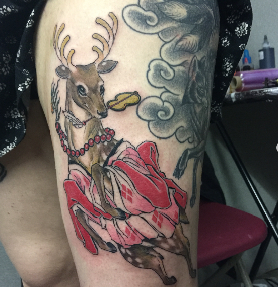 Leeds tattoo expo - Freehand bambi by Ky
