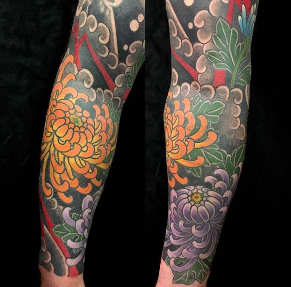 Todays work - Chrysanthemum cover up and extending sleeve by Kanae