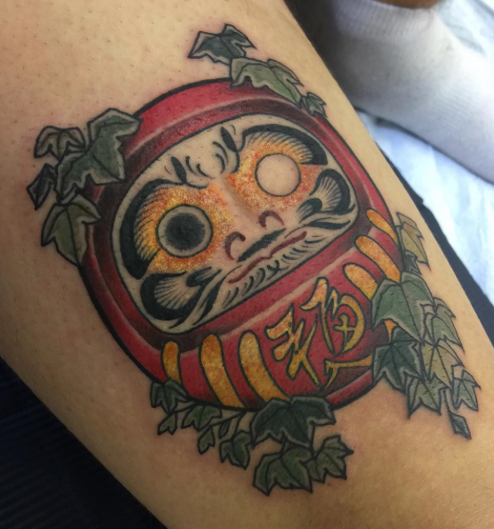 Todays work - Daruma doll and ivy by Ky
