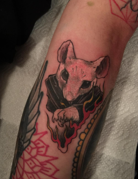 Todays work - Freehand rat by Ky