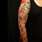 Todays work by Kanae - Koi fish full sleeve