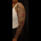 Todays work by Kanae - Finished Koi Sleeve