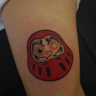Todays work - Daruma doll on inner arm by Ky