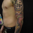Todays Work - Hannya and Snake sleeve by Ky
