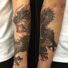 Todays work by Kanae, Dragon on forearm!
