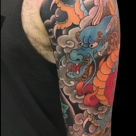 Todays work by Kanae, Dragon sleeve finished.