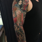 Todays work - Kiyohime sleeve by Ky