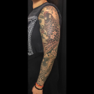 Todays Work by Kanae - Koi Sleeve in progress