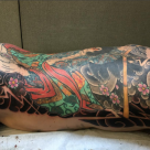 London tattoo convention - Back piece mikiri in progress by Kanae