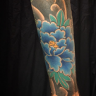 Todays work - Peony on arm by Kanae
