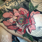 Todays work by ky - back piece in progress