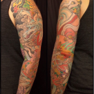 Todays work - Nine Tailed Fox Sleeve by Kanae
