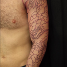 Todays work - Snake and peony sleeve started by Kanae