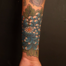 Todays work - Chrysanthemum cover up by Kanae at Invisible NYC
