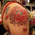 Todays work - Lotus by Kanae at the Bay Area Tattoo Convention
