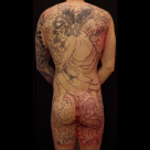 Todays work - kumonryu-shishin back piece in progress by Kanae