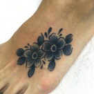Todays work by Kanae, Flowers on Foot