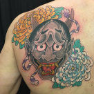 todays work by Kanae, Hanya mask on back