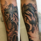 TODAY'S WORK BY KY - TIGER ON FOREARM, WRAPS AROUND THE ARM ALOT