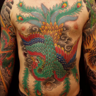 Todays work - Phoenix on chest by Kanae