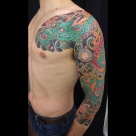 Today's Work by Kanae - Finished 3/4 dragon sleeve and chest!